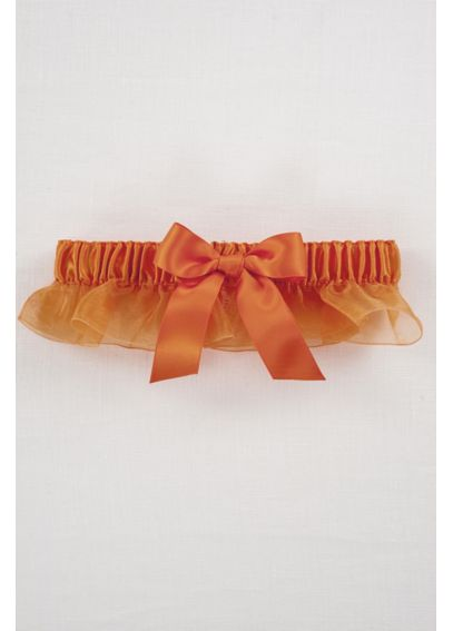 Ruffled Organza with Satin Bow Garter DB20-2002