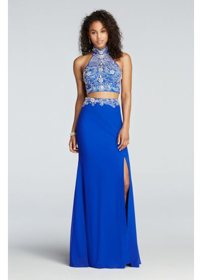 Long Sheath Halter Cocktail and Party Dress - Beyond by Jovani