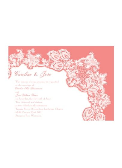 Lacy Delight Invitation Sample - Wedding Gifts & Decorations