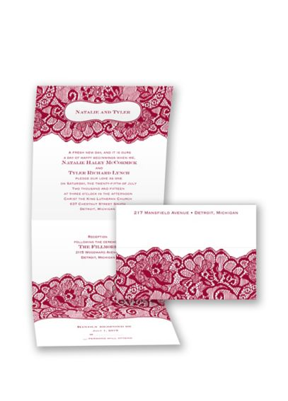 Chantilly Chic Invitation Sample DB26494