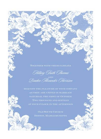 Lace Fantasy Invitation Sample - Wedding Gifts & Decorations