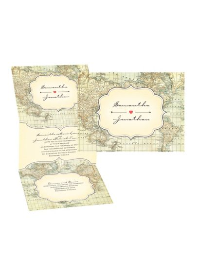 Traveler's Tales Invitation Sample - Wedding Gifts & Decorations