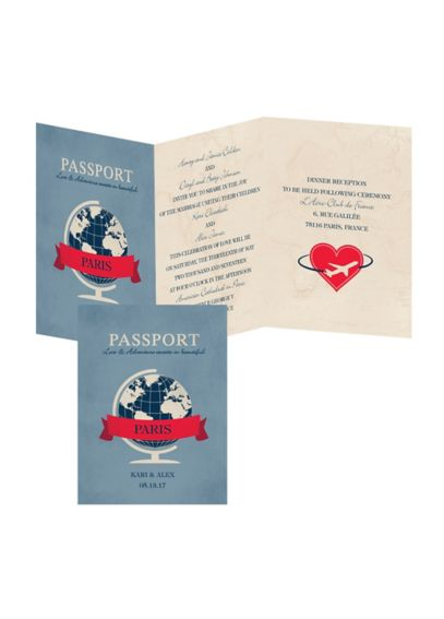 Passport to Love Invitation Sample DB28763
