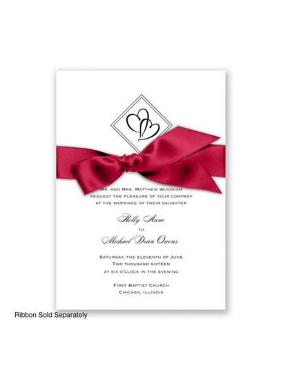 Diamond Hearts Invitation Sample - Wedding Gifts & Decorations