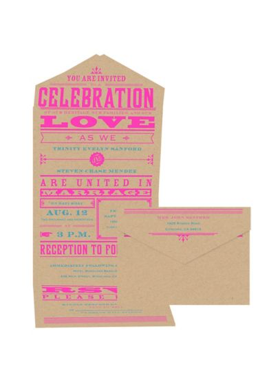 Bold Love Invitation Sample - Wedding Gifts & Decorations