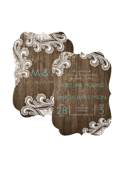Framed in Lace Invitation Sample - Wedding Gifts & Decorations
