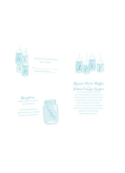 Lovely Canning Jars Invitation Sample - Wedding Gifts & Decorations