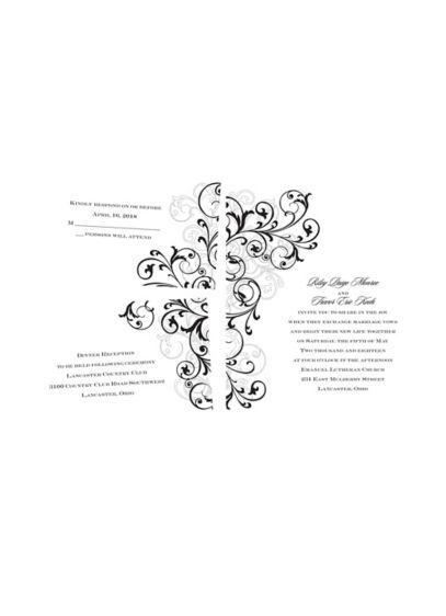 Regal Swirls Invitation Sample - Wedding Gifts & Decorations