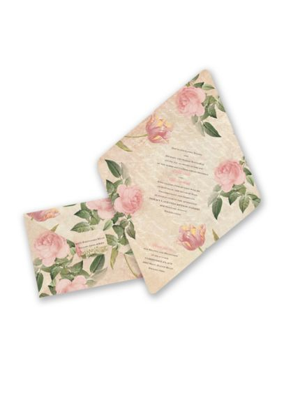 Romantic Vintage Blooms Invitation Sample DB35713