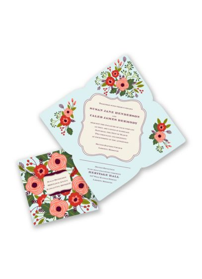 Posh Posies Invitation Sample - Wedding Gifts & Decorations