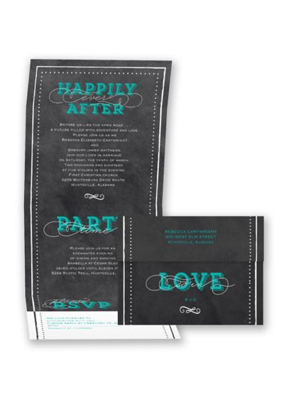 Chalkboard Delight Invitation Sample - Wedding Gifts & Decorations