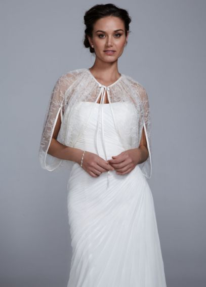Lace Cape with Self Tie Front DB37G25