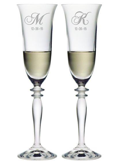 Personalized Harmony Monogram Toasting Flutes DB4207HA2