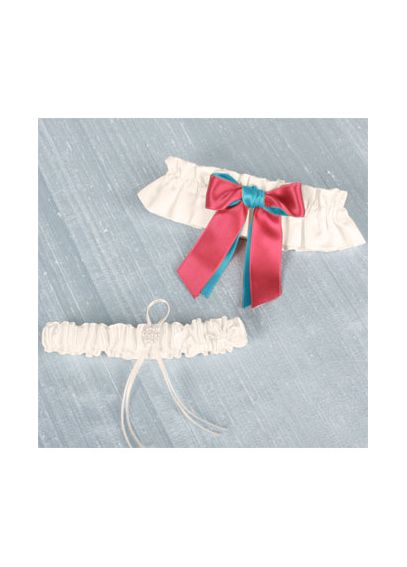 DB Exclusive Double Ribbon Garter Set DB45GS/W