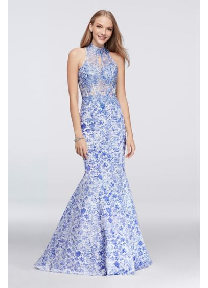Long Mermaid/ Trumpet Halter Formal Dresses Dress - Beyond by Jovani