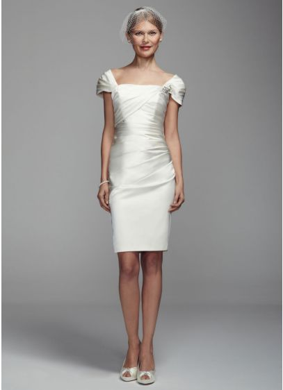 Short Sheath Casual Wedding Dress -