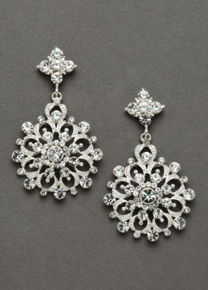 Crystal Snowflake Earrings DB5E