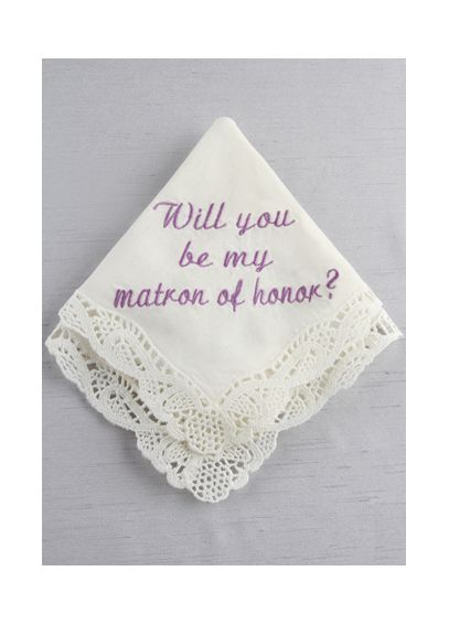 DB Exc Will You Be My Matron of Honor Hankie  DB71022