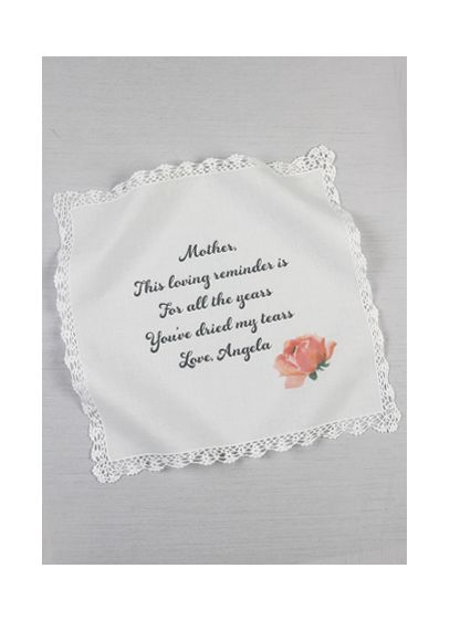 Personalized Mothers Tears Hankie - Wedding Gifts & Decorations
