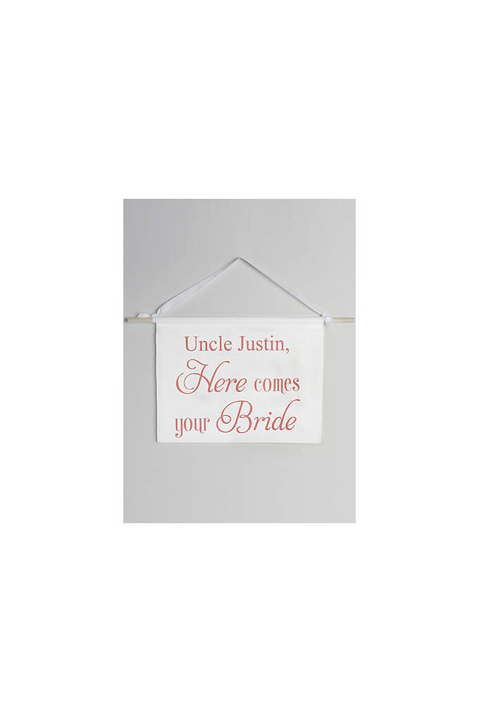 Personalized Canvas Here Comes Your Bride Sign - Announce the arrival of the bride with this
