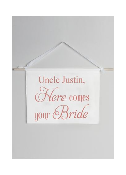 Personalized Canvas Here Comes Your Bride Sign - Wedding Gifts & Decorations