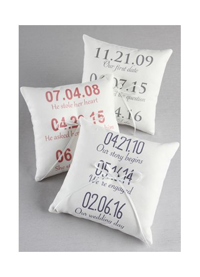 Personalized Milestone Canvas Ring Bearer Pillow - Wedding Gifts & Decorations