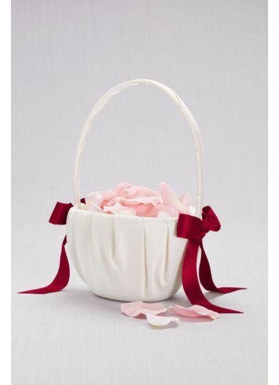 Single Ribbon Flower Basket - Wedding Gifts & Decorations