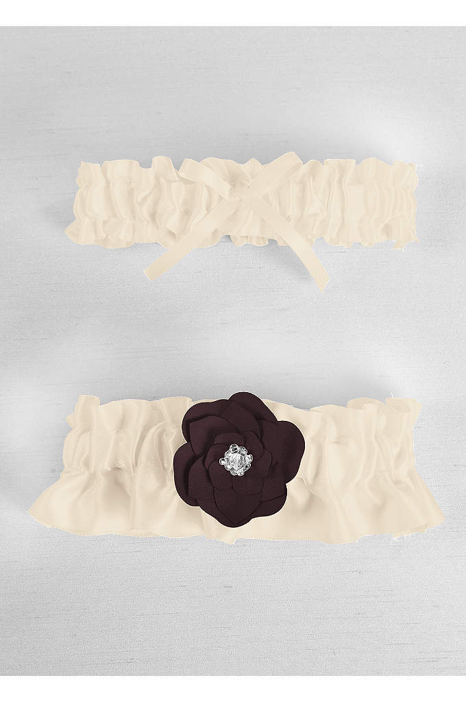 DB Exclusive Floral Desire Garter Set - Davids Bridal Exclusive garter set features a delicate