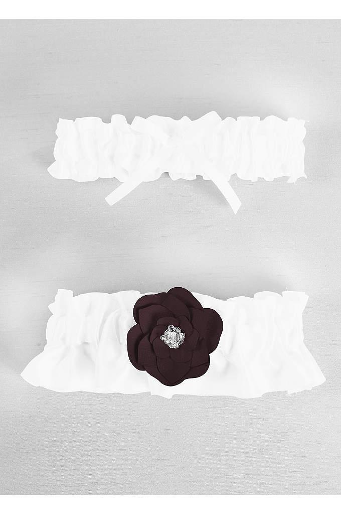 DB Exclusive Floral Desire Garter Set - Davids Bridal Exclusive garter set features a delicate