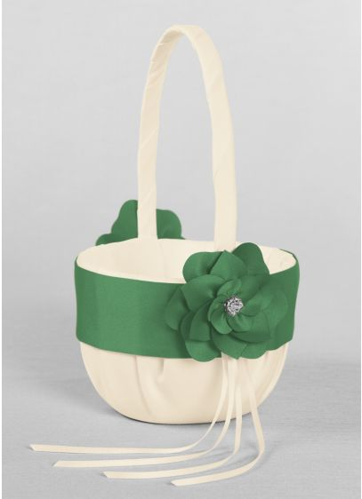 Ivory (DB Exclusive Floral Desire Flower Girl Basket)