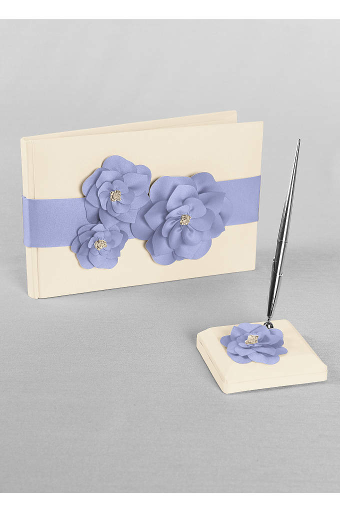 DB Exclusive Floral Desire Guest Book and Pen - David's Bridal Exclusive guest book and pen set