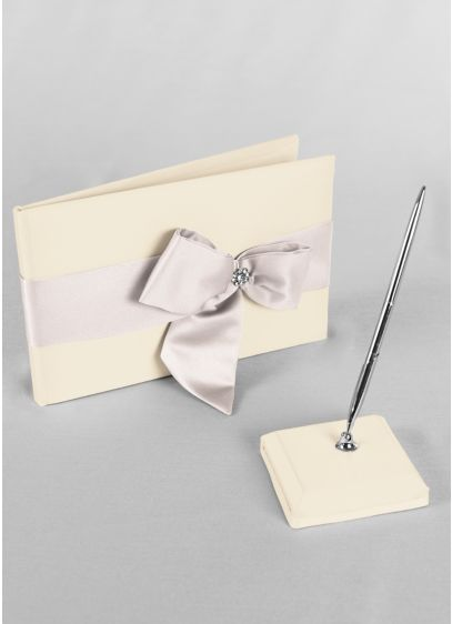 DB Exclusive Regal Ties Guest Book and Pen Set - Wedding Gifts & Decorations