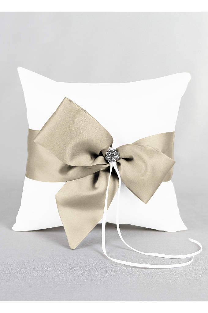 DB Exclusive Regal Ties Ring Pillow - David's Bridal Exclusive ring bearer pillow featuring a