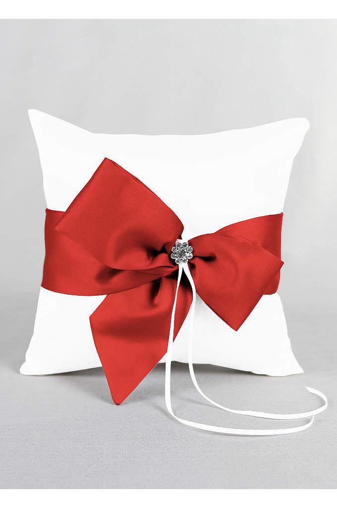 DB Exclusive Regal Ties Ring Pillow - David's Bridal Exclusive ring bearer pillow featuring a