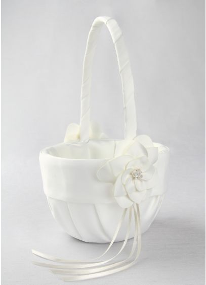 Ivory (DB Exc Ivory Floral Desire Flower Girl Basket)