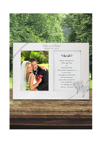 Personalized Lenox True Love Invitation Frame DB812614