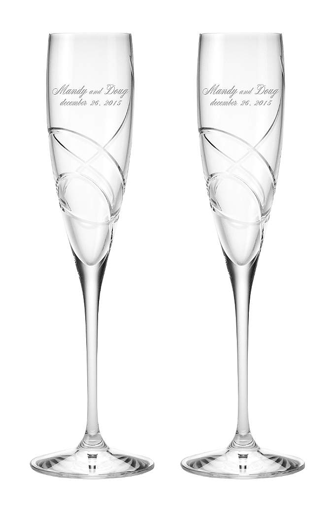 Personalized Lenox Adorn Signature Toasting Flutes - From the Lenox Adorn collection, these crystal toasting