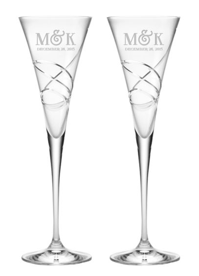 Personalized Lenox Adorn Trumpet Flutes - Wedding Gifts & Decorations