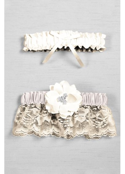 DB Exclusive Floral Lace Bridal Garter Set DB85BG