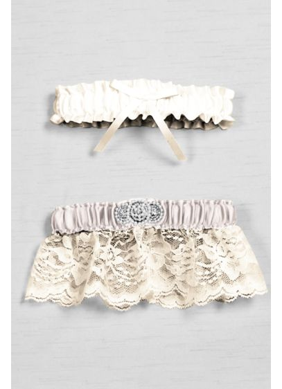 Ivory (DB Exclusive Pearl Lace Bridal Garter Set)