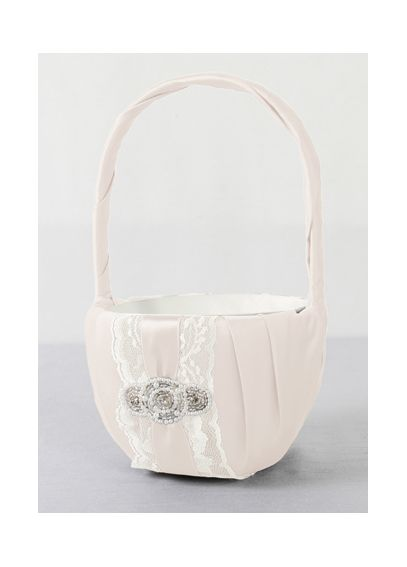 DB Exclusive Pearl Lace Flower Girl Basket DB86FGB