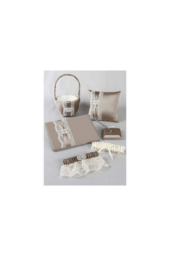 DB Exclusive Pearl Lace Collection Set - Trimmed with delicate lace and layered with satin