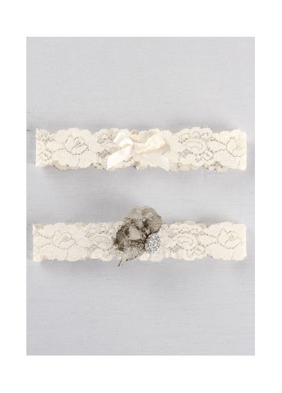 DB Exclusive Lace Garden Bridal Garter Set DB90BG