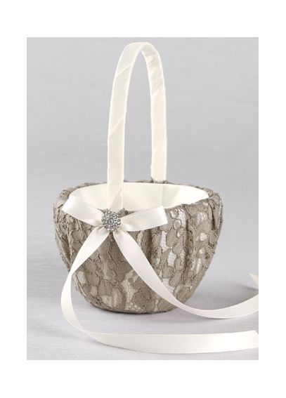 DB Exclusive Lace Garden Flower Girl Basket DB90FGB