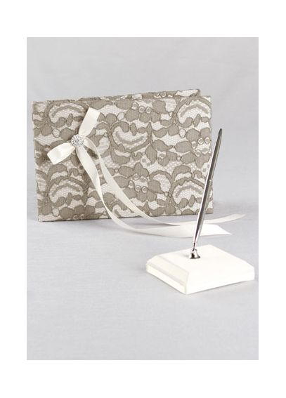 DB Exclusive Lace Garden Guest Book and Pen Set DB90GBP