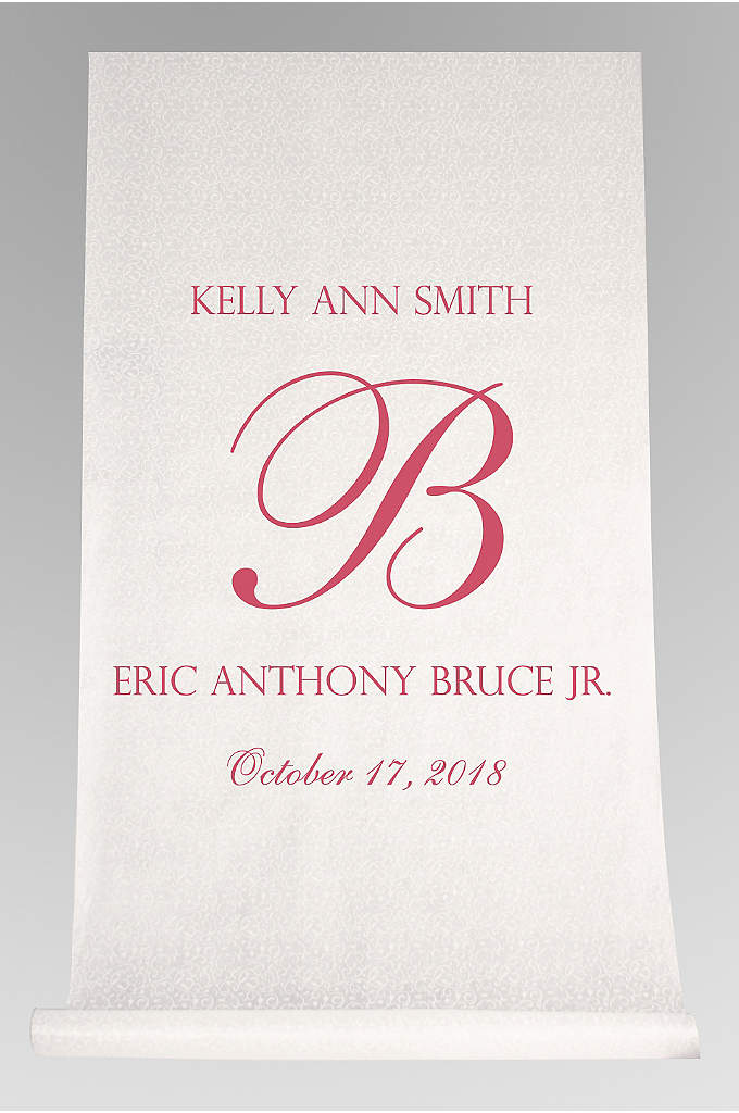 DB Exc Pers Elegant Names and Initial Aisle - This Elegant Names and Initial Aisle Runner features