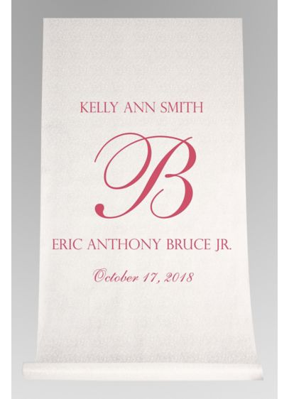 DB Exc Pers Elegant Names and Initial Aisle Runner - Wedding Gifts & Decorations