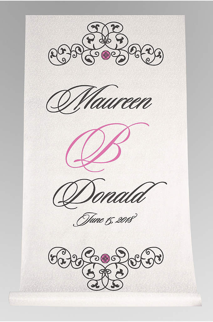 DB Exc Personalized Elegant Scroll Aisle Runner - With this Elegant Scroll Aisle Runner, your last