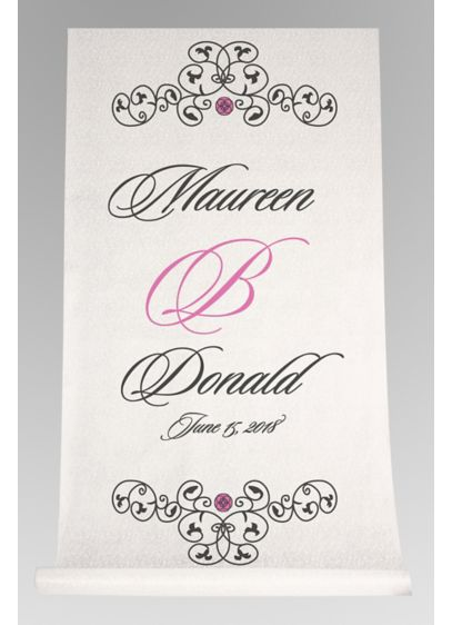 DB Exc Personalized Elegant Scroll Aisle Runner - Wedding Gifts & Decorations