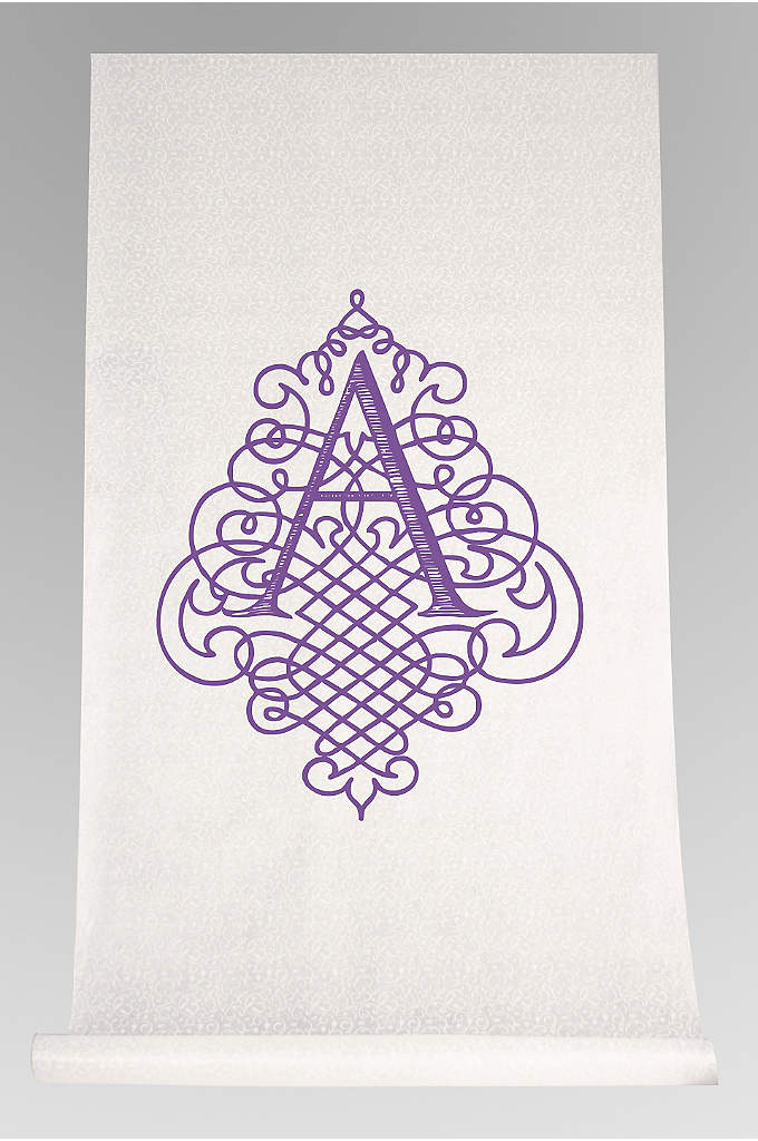 DB Exc Pers Flourish Design Initial Aisle Runner - Proudly display your last name initial with this